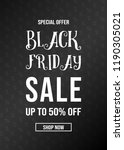 black friday sale   modern... | Shutterstock .eps vector #1190305021