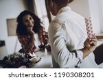 young afro american couple date.... | Shutterstock . vector #1190308201