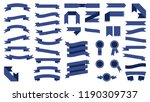 set of beautiful colored blue... | Shutterstock .eps vector #1190309737