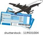 passenger airplane silhouette... | Shutterstock .eps vector #119031004