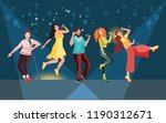 girls and boys perform in a... | Shutterstock .eps vector #1190312671