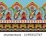 seamless bright border with... | Shutterstock .eps vector #1190312767