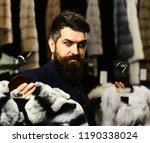 customer with beard presents...   Shutterstock . vector #1190338024
