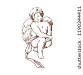 elegant drawing of lovely... | Shutterstock .eps vector #1190344411