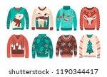 bundle of ugly christmas...   Shutterstock .eps vector #1190344417