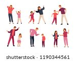 collection of conflicts between ... | Shutterstock .eps vector #1190344561