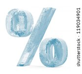 icy percent sign over white... | Shutterstock . vector #119034901