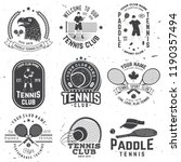 set of paddle tennis and tennis ... | Shutterstock .eps vector #1190357494