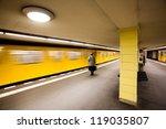woman waiting for subway  berlin | Shutterstock . vector #119035807
