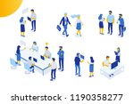 isomeric office people vector... | Shutterstock .eps vector #1190358277