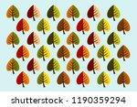 autumn leaves  beautiful... | Shutterstock .eps vector #1190359294