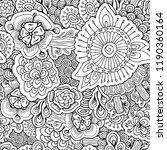 stock vector seamless flower ... | Shutterstock .eps vector #1190360164
