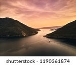 montenegro. sunset in the bay... | Shutterstock . vector #1190361874