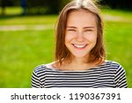 close up portrait of beautiful... | Shutterstock . vector #1190367391