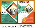 cover brochure layout annual... | Shutterstock .eps vector #1190370871
