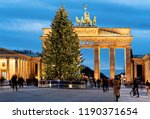 brandenburg gate building in... | Shutterstock . vector #1190371654