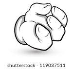 cartoon hand   vector...   Shutterstock .eps vector #119037511