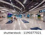 west kowloon  hong kong  ...   Shutterstock . vector #1190377021