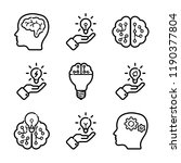 intellect icon set | Shutterstock .eps vector #1190377804
