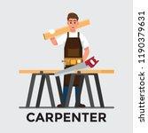 carpenter man   vector... | Shutterstock .eps vector #1190379631