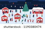 christmas market or holiday... | Shutterstock .eps vector #1190380474