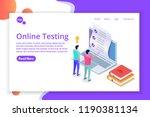 online testing e learning ... | Shutterstock .eps vector #1190381134