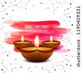 happy diwali diya oil lamp... | Shutterstock .eps vector #1190409331