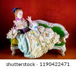 medieval porcelain doll on... | Shutterstock . vector #1190422471