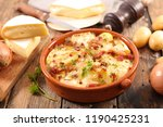 french tartiflette  potato ... | Shutterstock . vector #1190425231
