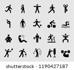 silhouette icons set for... | Shutterstock . vector #1190427187