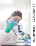 people working at laboratory | Shutterstock . vector #1190430487