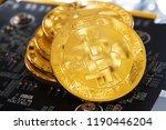 bitcoin cryptocurrency digital... | Shutterstock . vector #1190446204