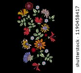 embroidery native pattern with... | Shutterstock .eps vector #1190458417