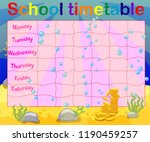 school timetable with marine... | Shutterstock .eps vector #1190459257