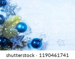 winter background with snow.... | Shutterstock . vector #1190461741