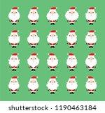 cute christmas santa claus...   Shutterstock .eps vector #1190463184