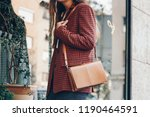 street style  attractive woman... | Shutterstock . vector #1190464591