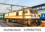 electric locomotive at new... | Shutterstock . vector #1190467531