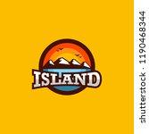 island logo design | Shutterstock .eps vector #1190468344