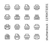 printer lines icon set | Shutterstock .eps vector #1190473351