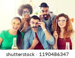 corporate  celebration and... | Shutterstock . vector #1190486347