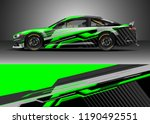car decal wrap design vector.... | Shutterstock .eps vector #1190492551