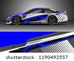 car decal wrap design vector....   Shutterstock .eps vector #1190492557