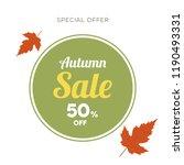autumn banner set. colorful...   Shutterstock .eps vector #1190493331
