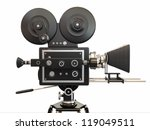 vintage movie camera on white... | Shutterstock . vector #119049511