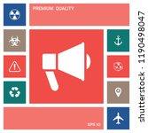 speaker  bullhorn icon | Shutterstock .eps vector #1190498047
