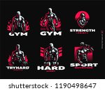 sport. sporty and athletic man. ... | Shutterstock .eps vector #1190498647