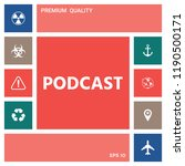 podcast   icon for web and... | Shutterstock .eps vector #1190500171