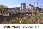 pergamon museum  ruins of... | Shutterstock . vector #1190500414