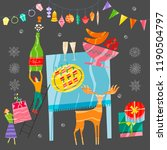 group of little people... | Shutterstock .eps vector #1190504797